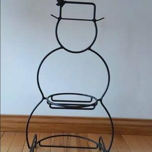 Longaberger Wrought Iron Small Snowman